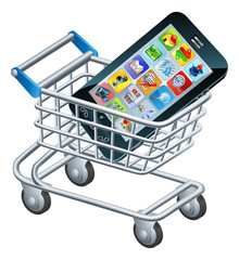 Mobile phone shopping cart