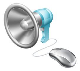Megaphone mouse concept