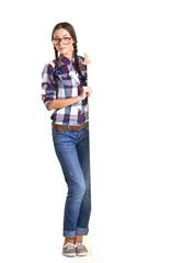 teenage girl with board