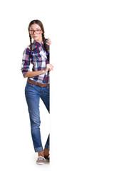 teen girl with board