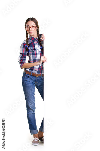 teen girl with board
