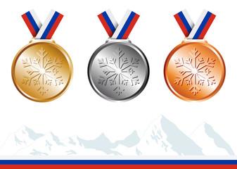 Médailles Jeux de Sotchi