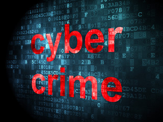 Protection concept: Cyber Crime on digital background
