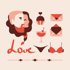 love icons collection vector illustration eps 10