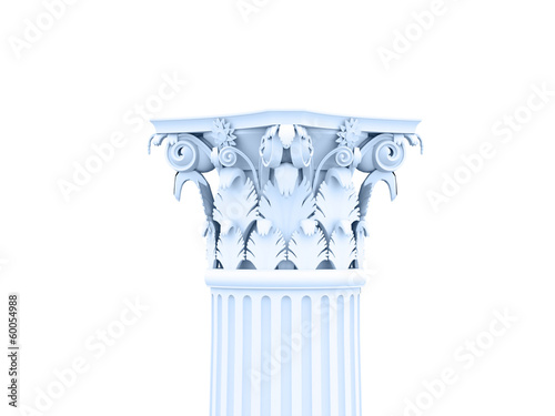 Column rendered on white