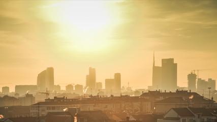 tramonto a milano timelapse