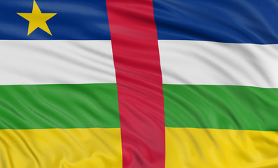 3D Central African Republic flag