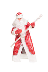 Santa Claus with a staff