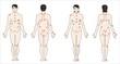 Фигуры мужчины и женщины с точками на теле