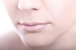 Weiblicher Mund in Pastell