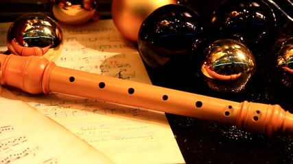 Flute and notes.