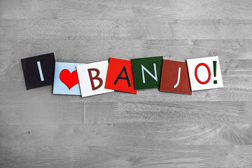 I Love Banjo, sign series for country music and bluegrass