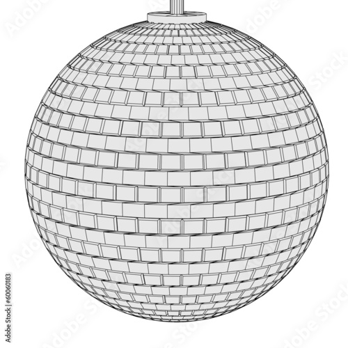 cartoon image of disco ball