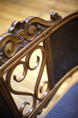 Meuble, fauteuil, antiquité, brocante, bois, objet