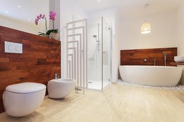 Bright stylish bathroom
