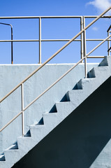 Blue Concrete Stairs