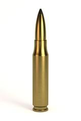 realistic 3d render of bullet
