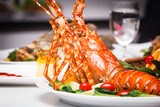 dish of lobster roasted