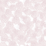 Romantic neutral seamless pattern with roses.
