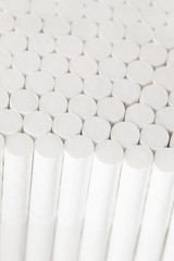abstract white filters of cigarettes