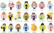 Постер, плакат: Герои мультфильмов разных профессий