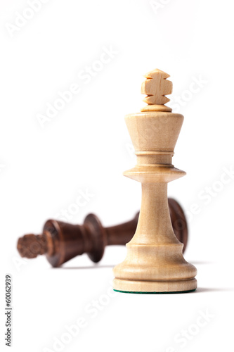 White And Black Kings Chess Figures
