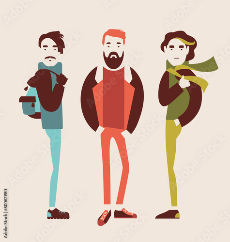 man in fashion clothes vector illustration