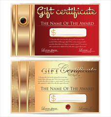 Voucher, Gift certificate, Coupon template