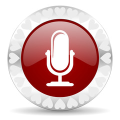 microphone valentines day icon