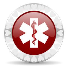 emergency valentines day icon