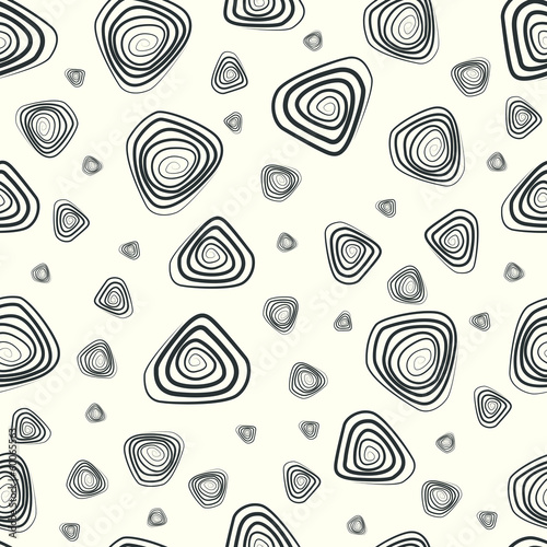 seamless pattern with geometric elements in retro style