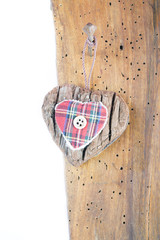 fabric heart hanging