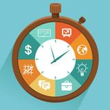 Vector flat concept - time management