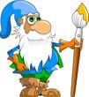 gnome blue cap