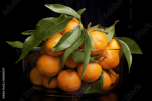A vase with mandarin