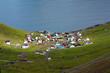 Small village of Funningur, Faroe Islands