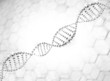 Silver DNA Helix Molecular Background