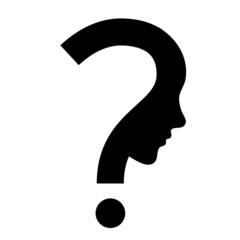 Fragezeichen Gesicht Silhouette Vektor