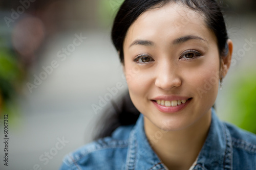 Asian casual woman in New York City smiling face