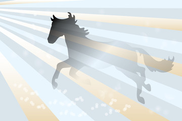 Abstract horse background