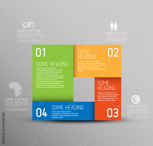 Vector Abstract shape with Infographic elements