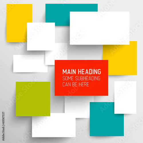 Vector abstract rectangles background illustration/infographic