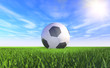 canvas print picture - 3D - Football (II)