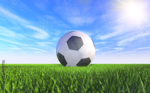canvas print picture 3D - Football (II)