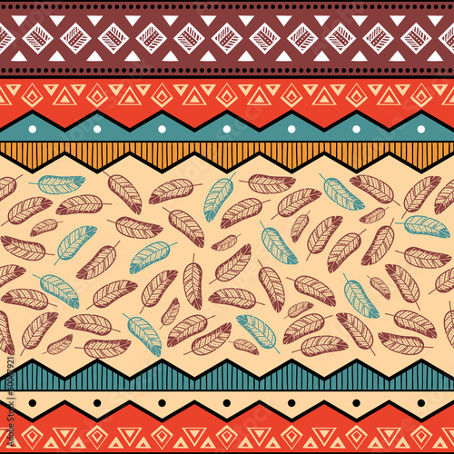 Ethnic tribal pattern background