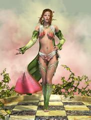 Fairy with Cloak 3d CG