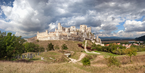 The ruins of the medieval castle Beckov - Slovakia