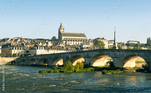Old bridge over the Loire in Blois, France.