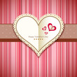 Happy Valentine's day greeting card design pink background