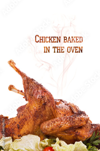 Chicken baked in the oven